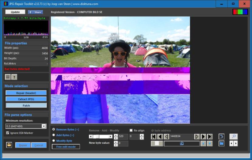 ninja JPEG Repair Toolkit