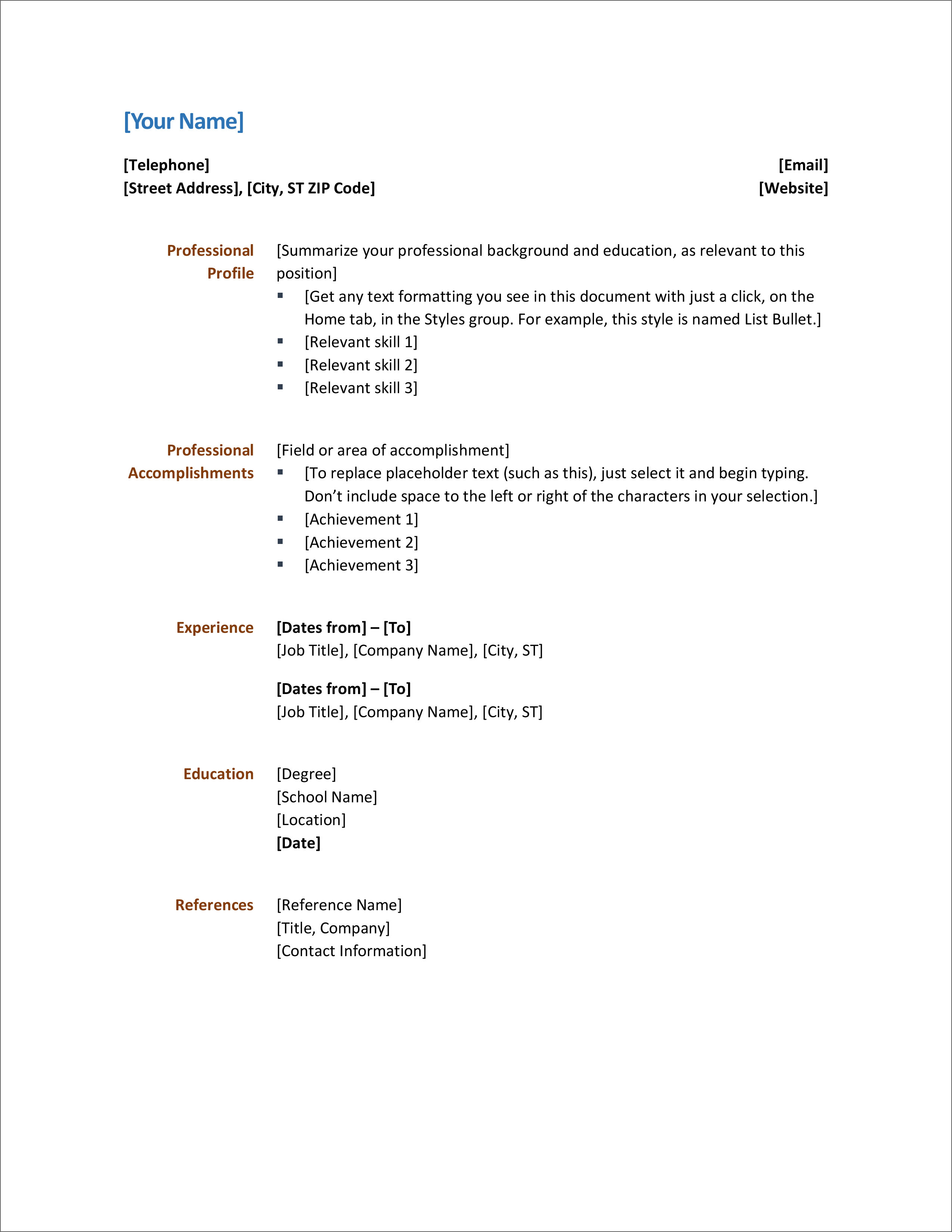24+ Simple Cv Template Download Free Wallpapers