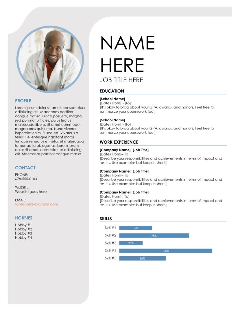 45 free modern resume    cv templates
