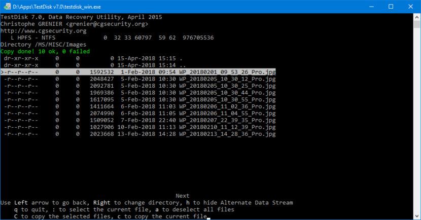 TestDisk Data Recovery