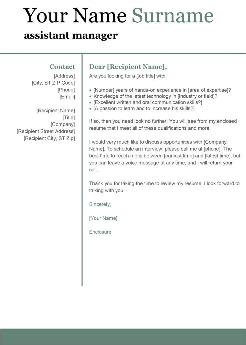 13 free cover letter templates for microsoft word docx and