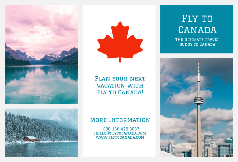 canada vacation Free Editable Professional Brochure Templates