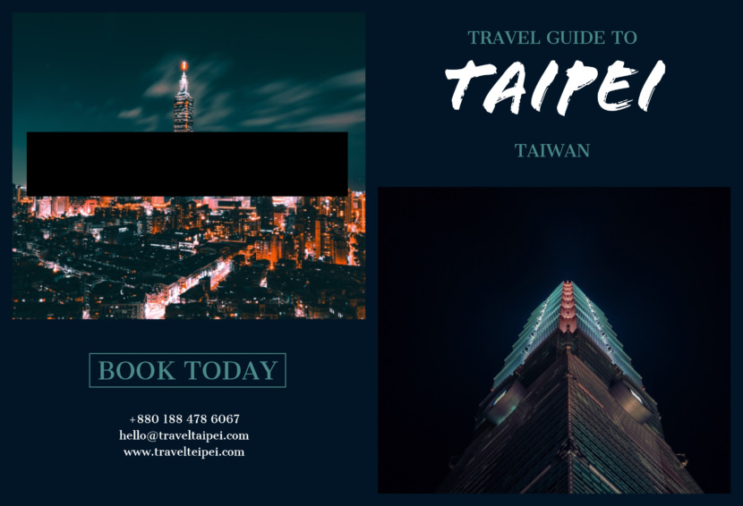 taiwan taipei travel Free Editable Professional Brochure Templates