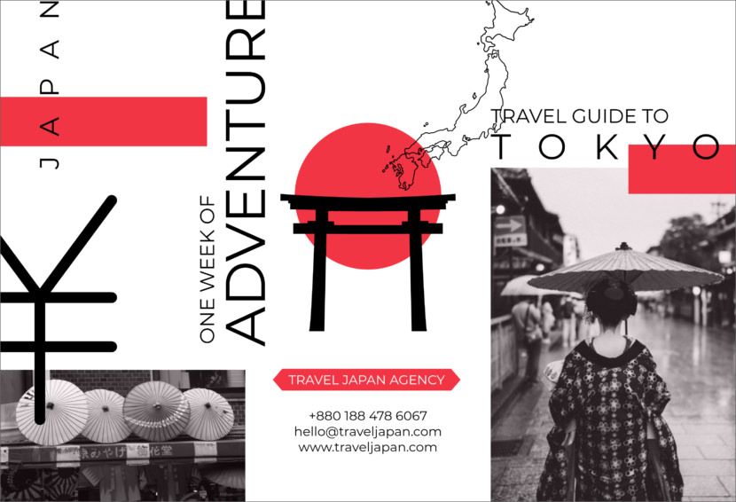 japan tokyo travel tour holiday Free Editable Professional Brochure Templates