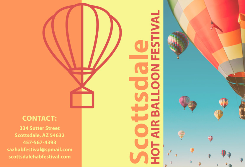 scottsdale balloon fesival Free Editable Professional Brochure Templates