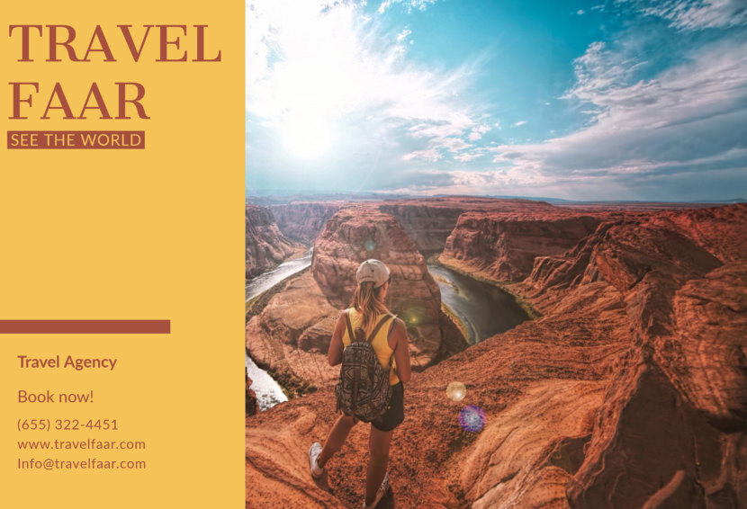 grand canyon travel hiking Free Editable Professional Brochure Templates