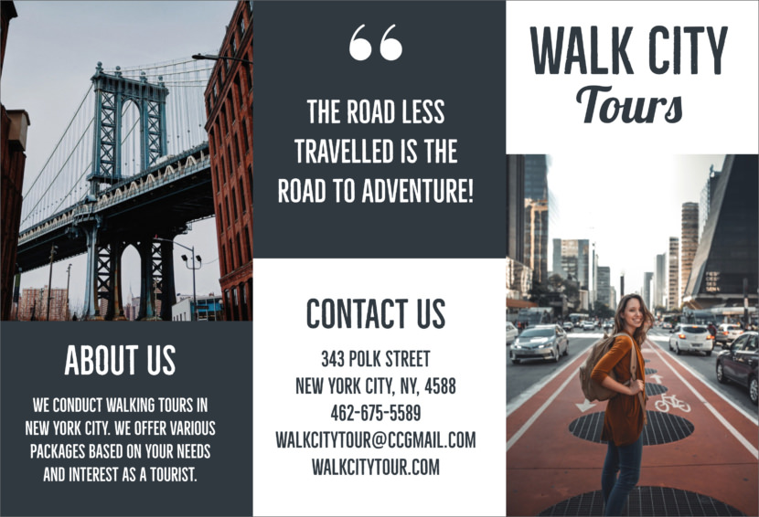 new york Brooklyn bridge Free Editable Professional Brochure Templates