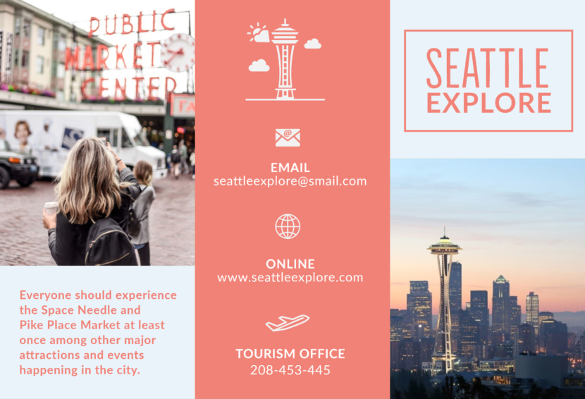 washington seattle Free Editable Professional Brochure Templates