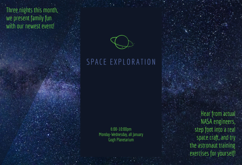space stars night Free Editable Professional Brochure Templates