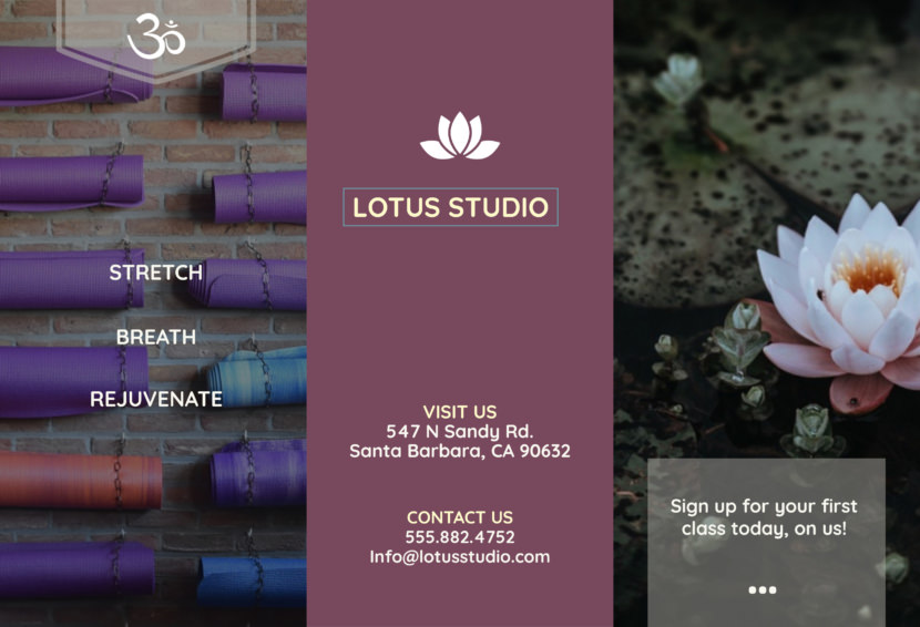 lotus yoga meditation Free Editable Professional Brochure Templates