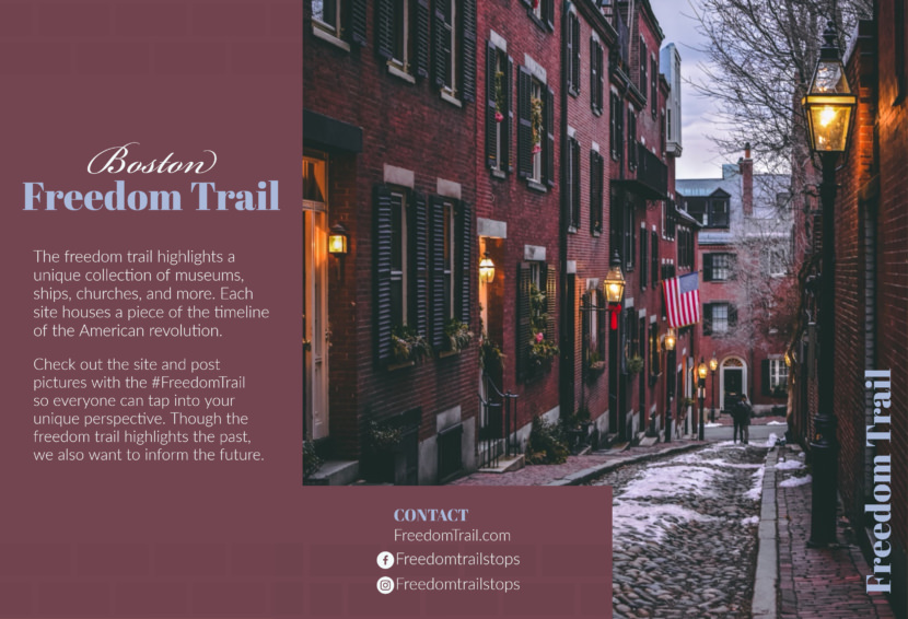 boston travel tour Free Editable Professional Brochure Templates
