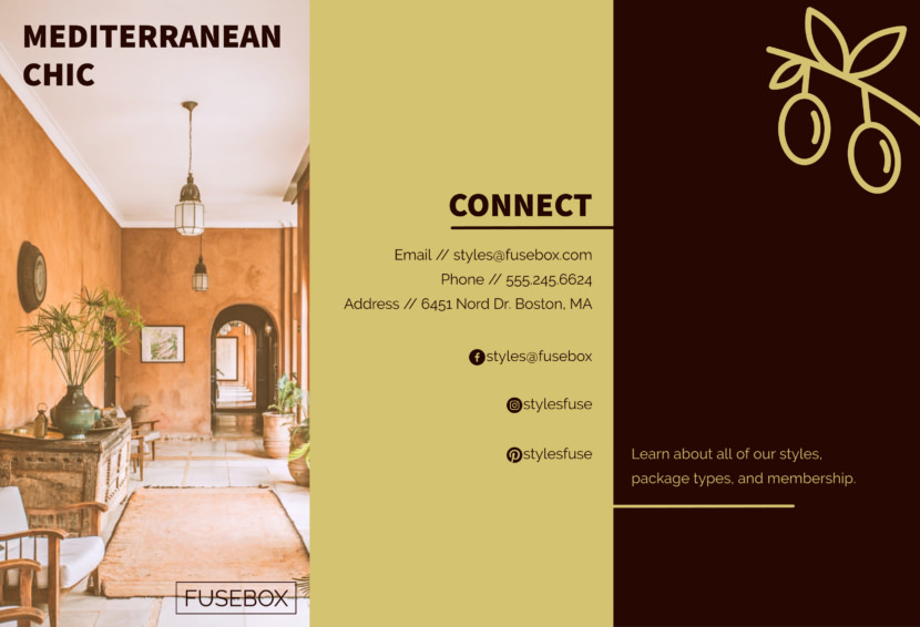 indoor house mediterranean furniture Free Editable Professional Brochure Templates