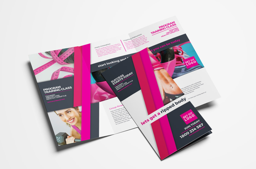Gym / Fitness Trifold Brochure Template