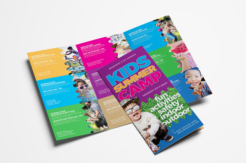 Kid's Camp Brochure Templates