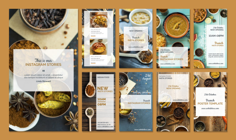 Restaurant Instagram Stories Template