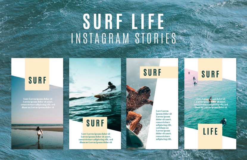 Surf Life Instagram Stories Template