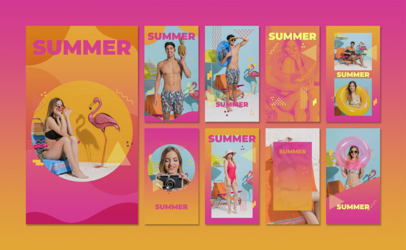 80's Summer Instagram Stories Template