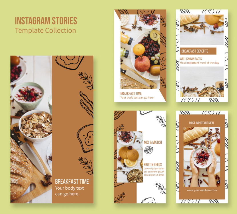 Breakfast Instagram Stories Template