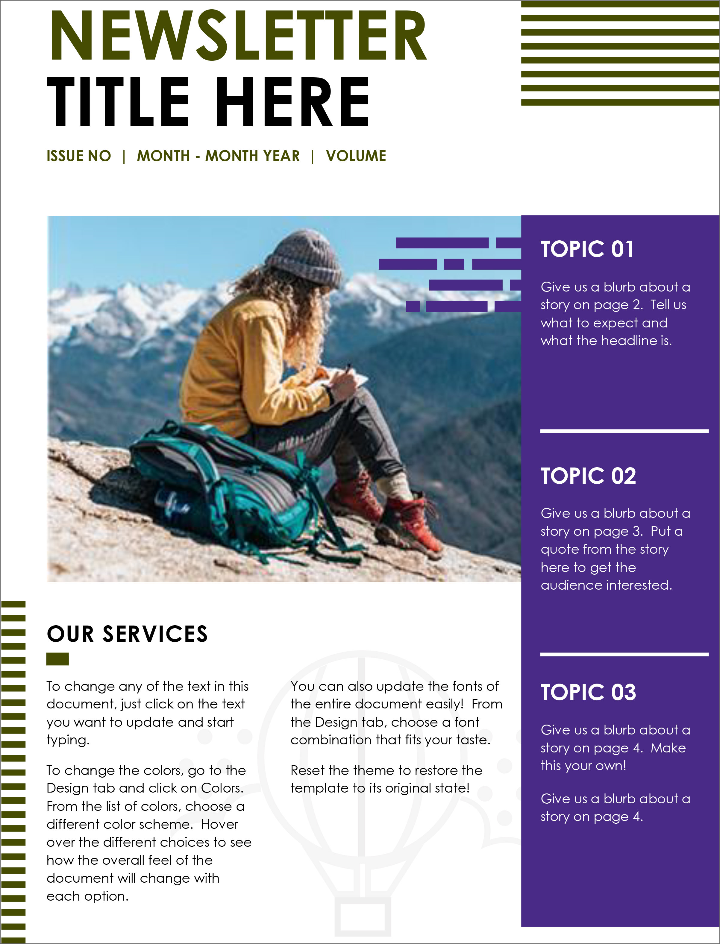 free-newsletter-template-02 Online Newsletter Template on free office, free printable monthly, microsoft word, fun company, classroom weekly,