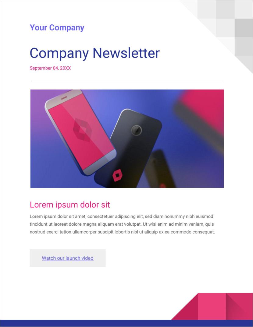 technology modern gadget Free newsletter templates download