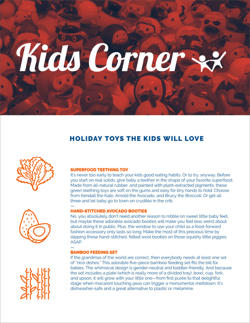 food kids Free Newsletter Templates
