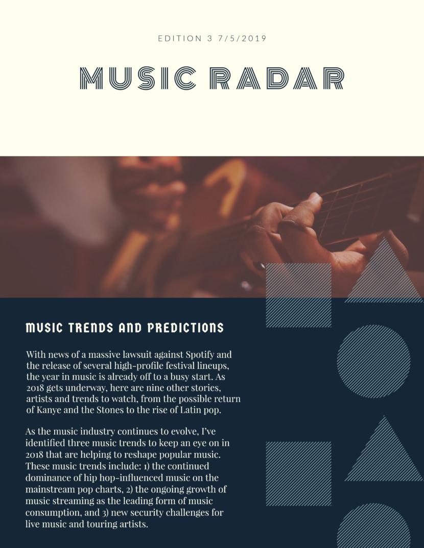 music festival Free Newsletter Templates