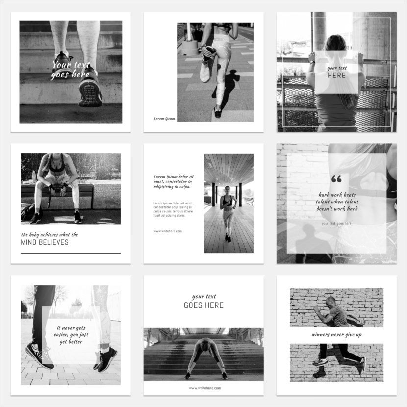 Black & White Instagram Template