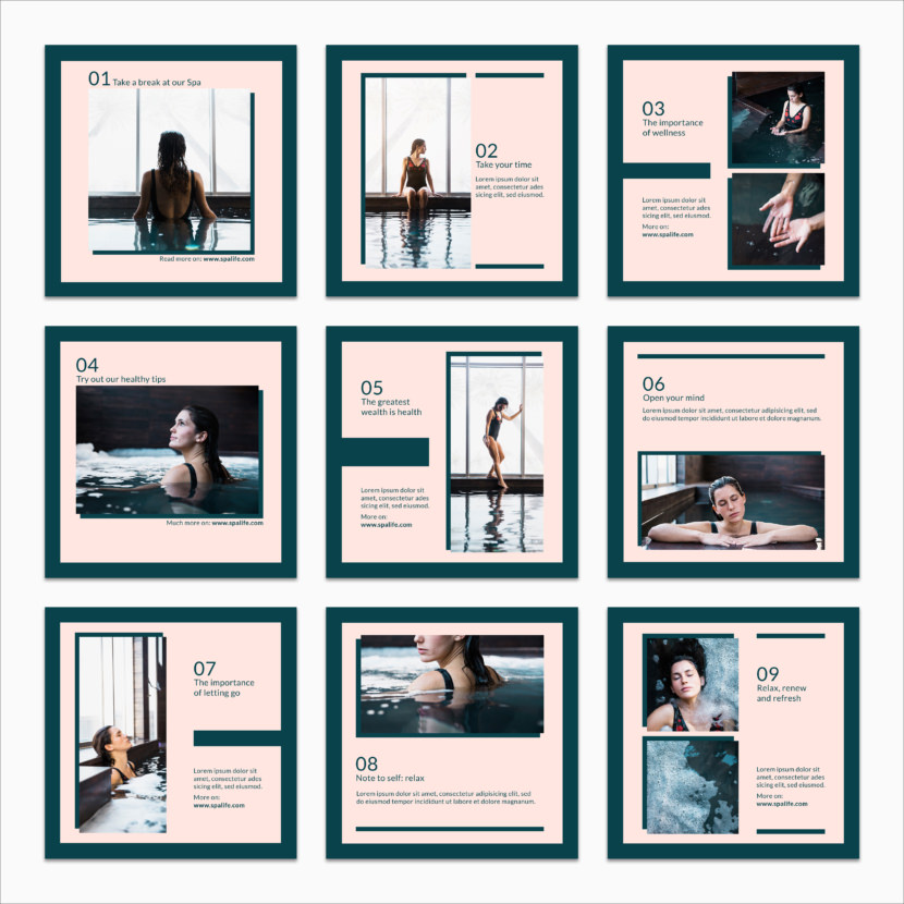 SPA Concept Instagram Template