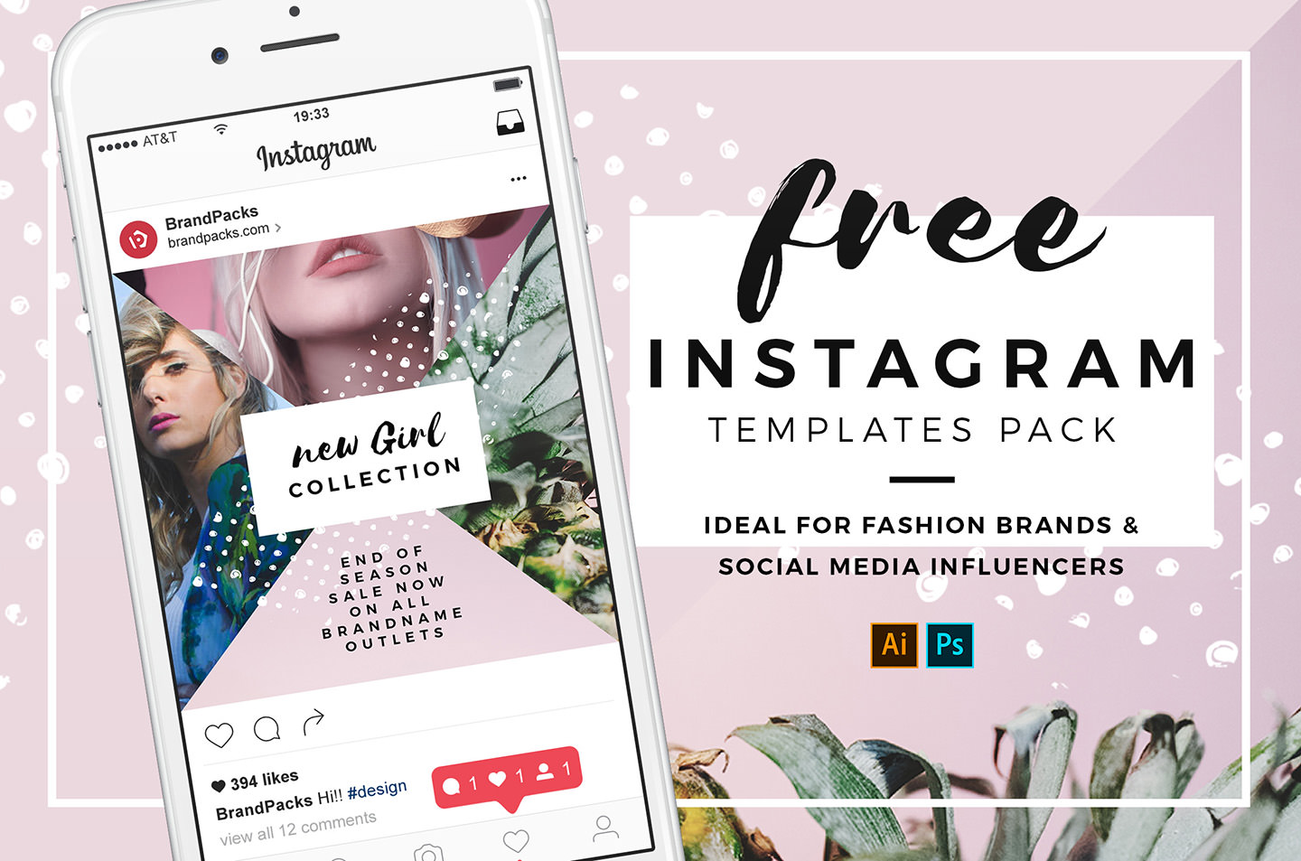 35 Free Instagram Square Templates For Social Media Influencers
