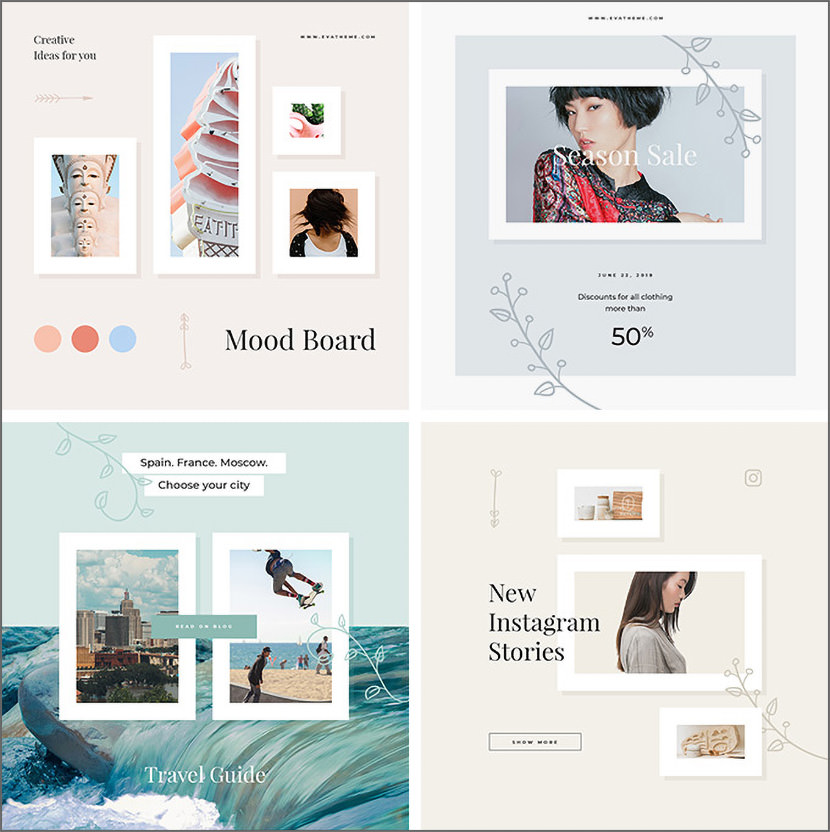 Elly Instagram Template
