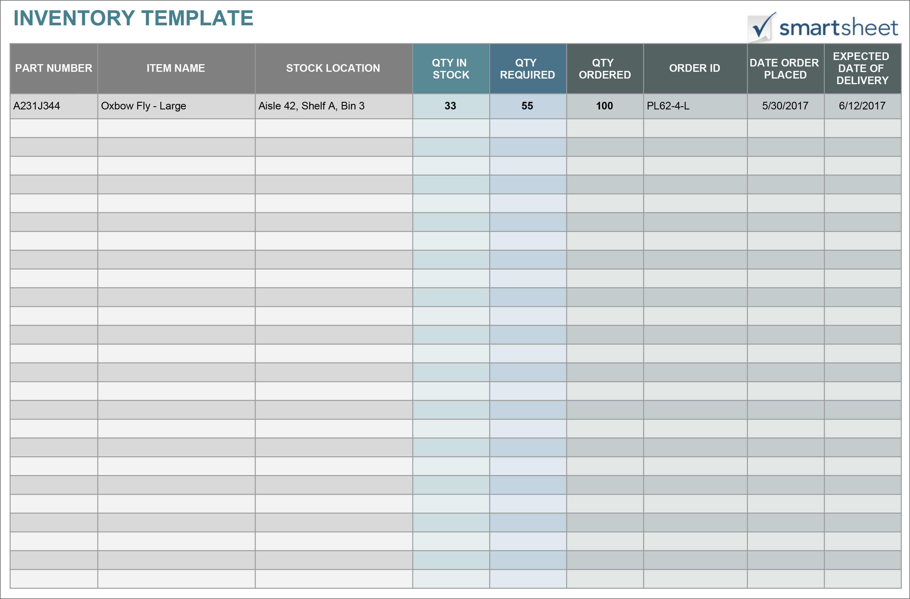13 Free Stock Inventory And Checklist Templates For SME ...