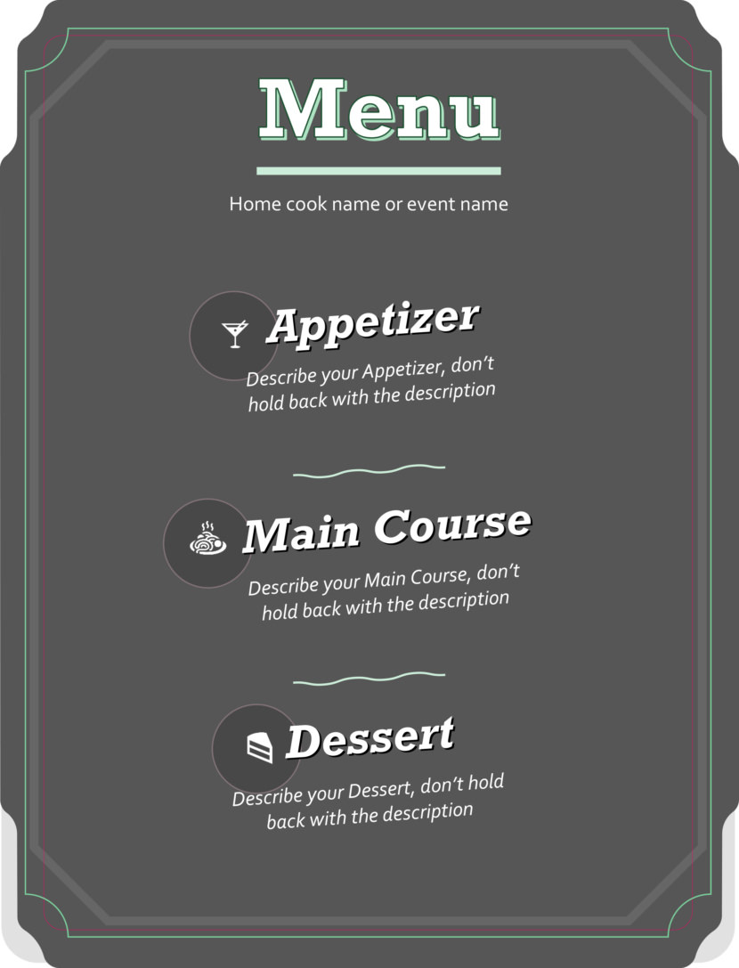 modern Free Simple Menu Templates For Restaurants