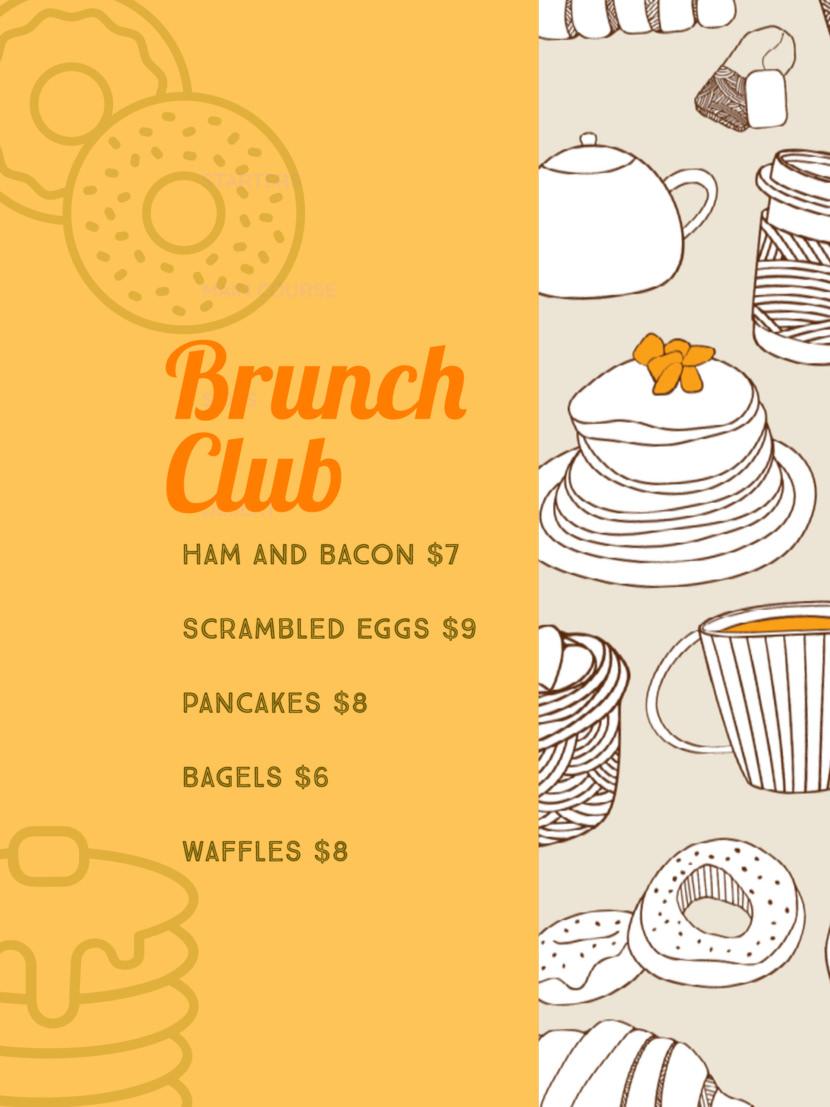 cake pancakes breakfast food Free Simple Menu Templates For Restaurants
