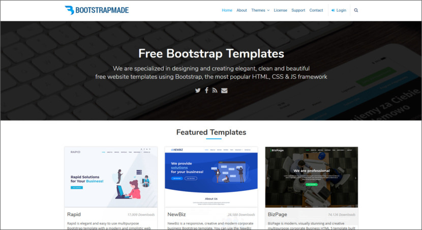 BootstrapMade Free Professional HTML5 Responsive Templates