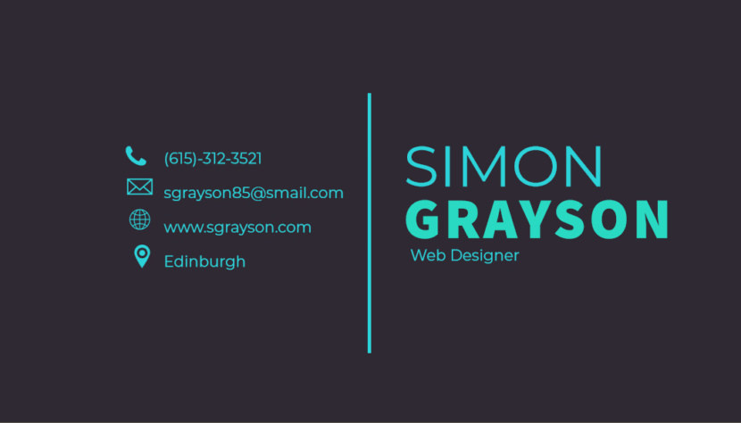 web designer Business Card Template