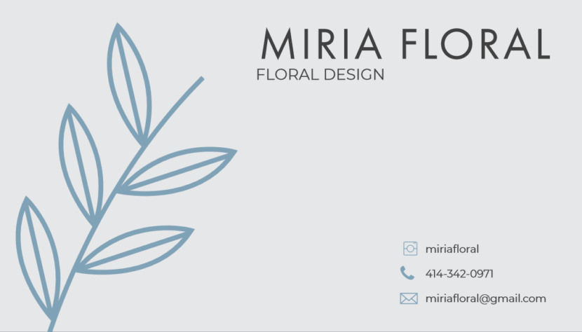 Floral design florist Business Card Template