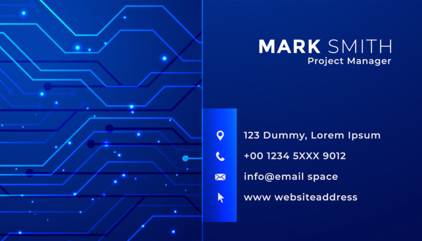 Technology Project Manager Business Card Template