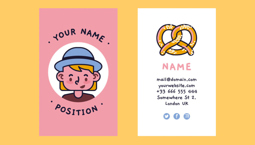 Hard Drawn Business Card Template