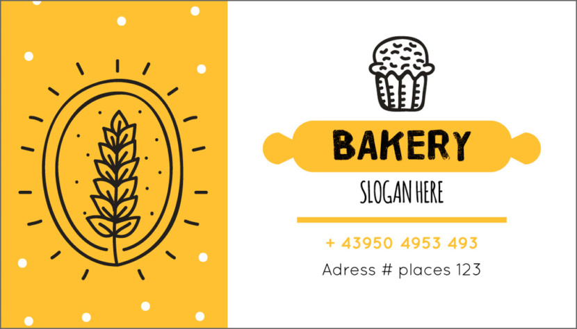 Baking Business Card Template