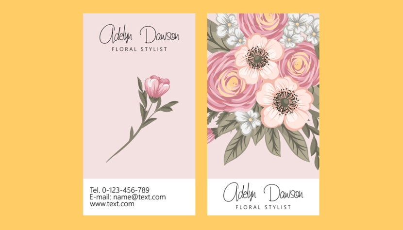 Floral Stylist Business Card Template