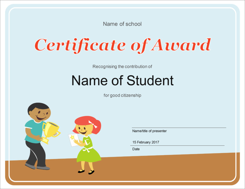 Creative Blank Certificate Templates Children