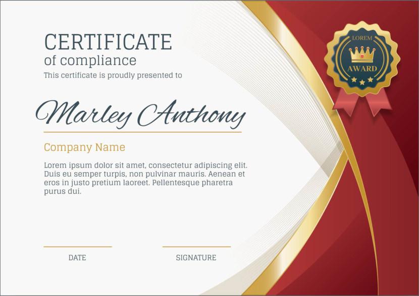 Elegant Blank Certificate Templates