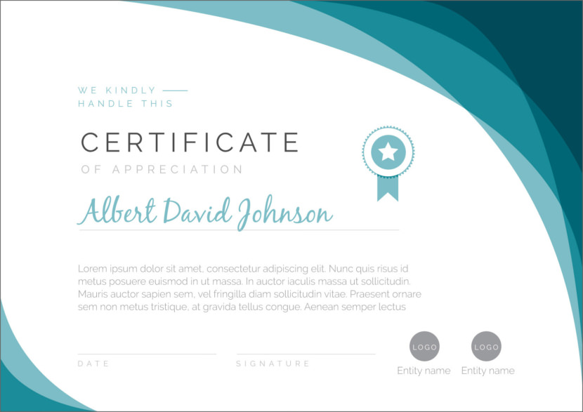 Certificate of Appreciation Blank Certificate Templates