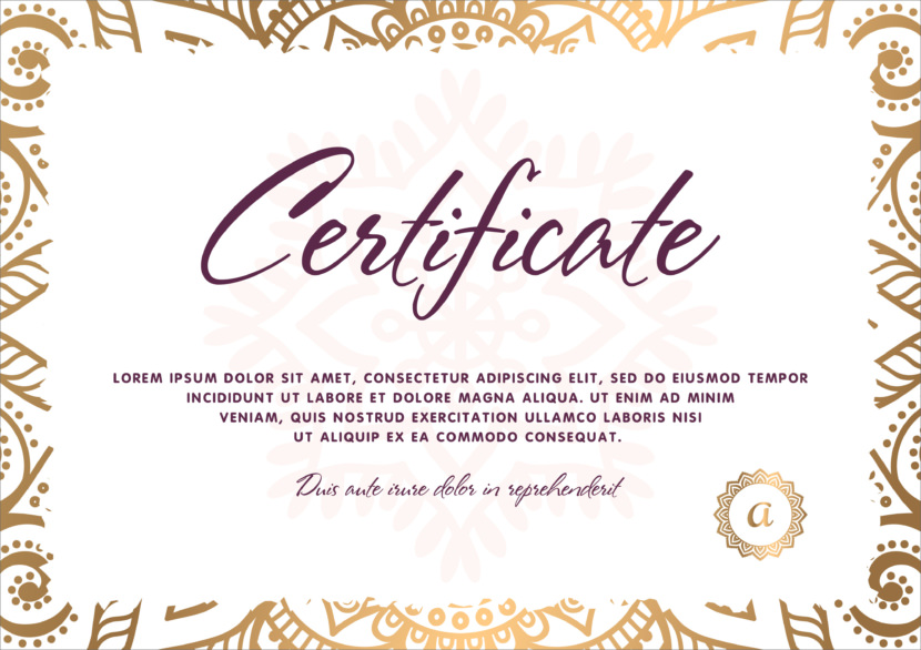 Professional Blank Certificate Templates