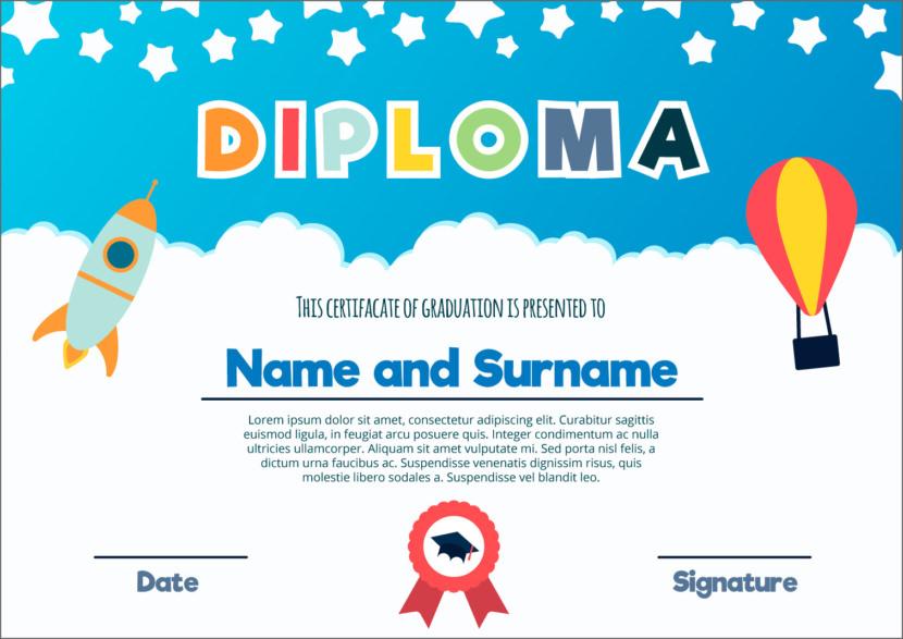 Kids Blank Certificate Templates