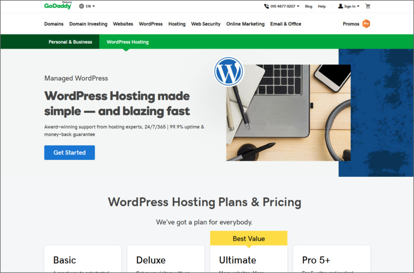 GoDaddy Managed WordPress