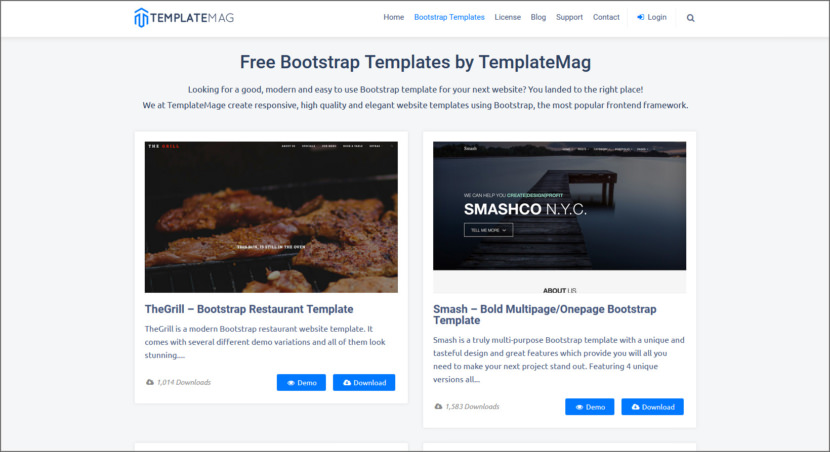 TemplateMag Free Professional HTML5 Responsive Templates