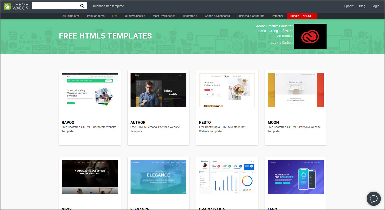 1000+ Free Professional HTML5 Responsive Templates For