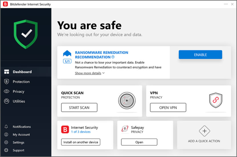 Download 90 Days Free Bitdefender Internet / Total Security 2020 [ Webcam Protection ]