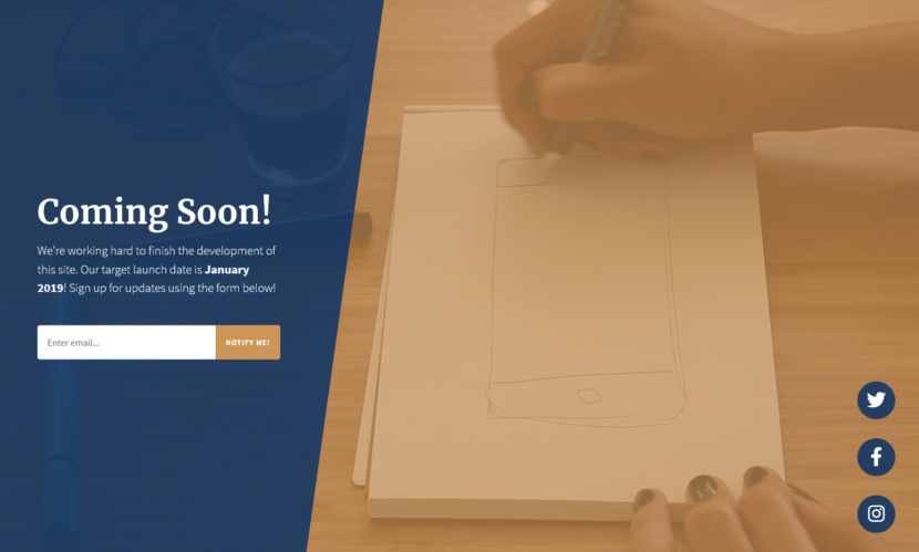 Coming Soon is a Bootstrap 4 coming soon theme perfect to act as your landing page for a project that is under construction! It features a video background image with a newsletter signup form!